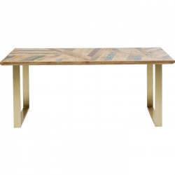Table Abstract Brass 180x90cm Kare Design