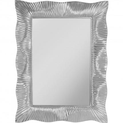 Miroir mural Wavy argenté 94x124cm