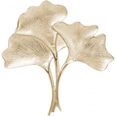 Wall Decoration Ginkgo Gold Small Kare Design