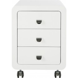 Storage Container White Club  3 Drawers Kare Design