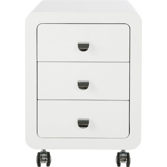 White Club Storage Container 3 Drawers Kare Design