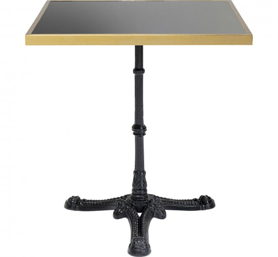 Table bistrot Kaffeehaus Rim noir 60x60