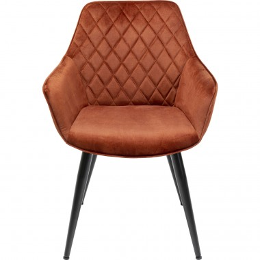Chaise a./acc. Harry rouge-rouille