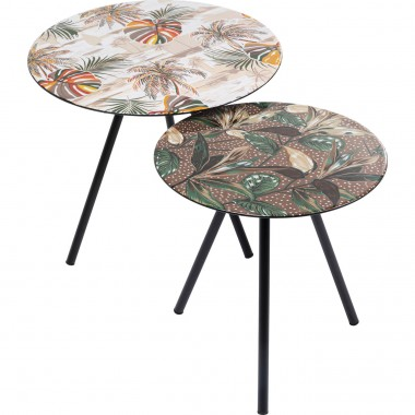 Table d appoint Blooming Leaves (2/Set)