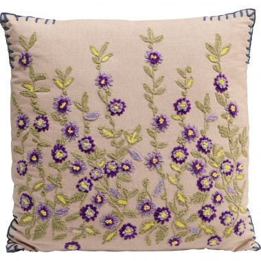 Coussin Embroidery violet 50x50cm
