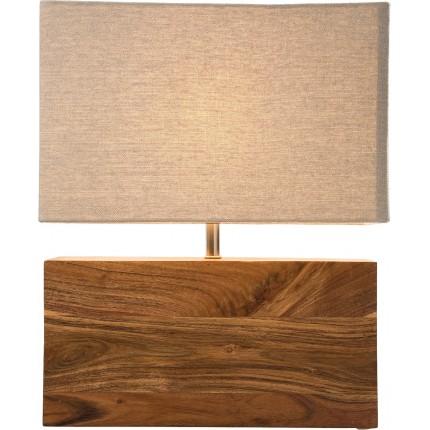 Table Lamp Rectangluar Wood Nature Kare Design