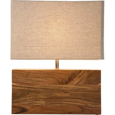 Table Lamp Rectangluar Wood Nature Kare Design