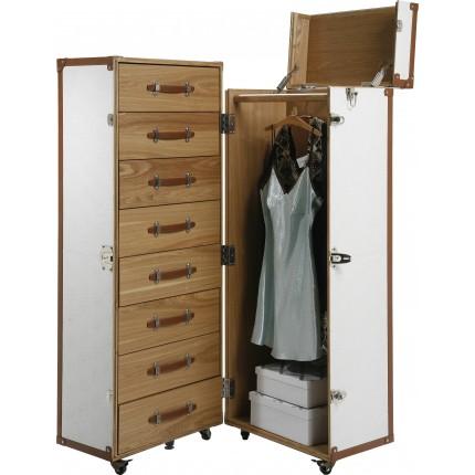 Wardrobe Trunk Croco White Cosmopolitan Kare Design