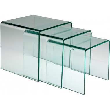 Clear Club Nest Of 3 Tables Kare Design