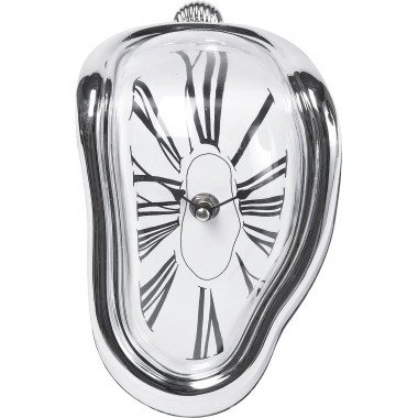 Table Clock Flow Silver Kare Design