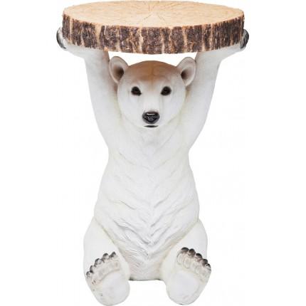 Bijzettafel Animal Polar Bear Ø37cm Kare Design