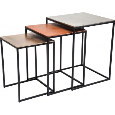 Table d'appoint loft Square Vintage (3/set) Kare Design