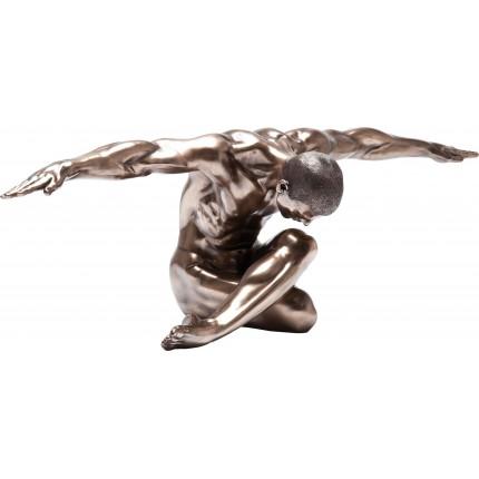 Deco Figurine Nude Man Bow 137cm Kare Design