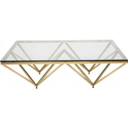Coffee Table Network Gold 105x105cm Kare Design