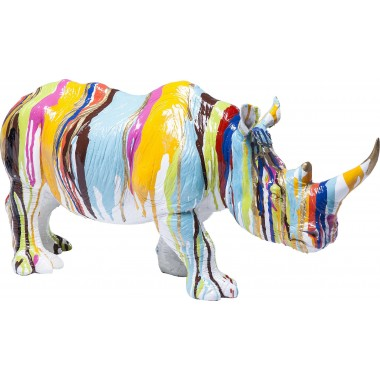 Deco Figurine Rhino Colore 26cm Kare Design