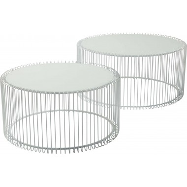 Coffee Table Wire White (2/Set) Kare Design