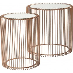 Tables d'appoint Wire cuivre 2/set Kare Design
