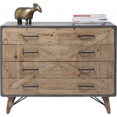 Commode X Factory 5 tiroirs Kare Design