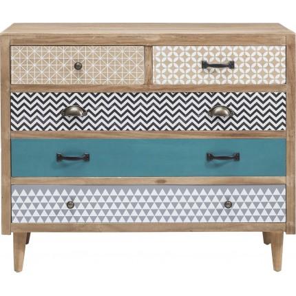 Dresser Capri 5 Drawers 90cm Kare Design