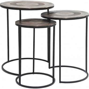 Side Table Marrakesh (3/Set) Ø48cm Kare Design