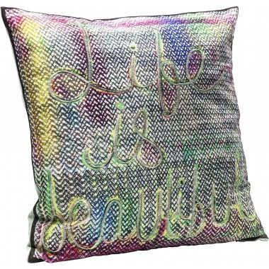 Coussin Life Is Beautiful 45x45 Kare Design