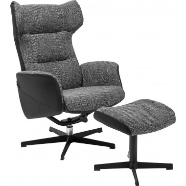 Swivel Chair + Stool Ohio Salt and Pepper Kare Design