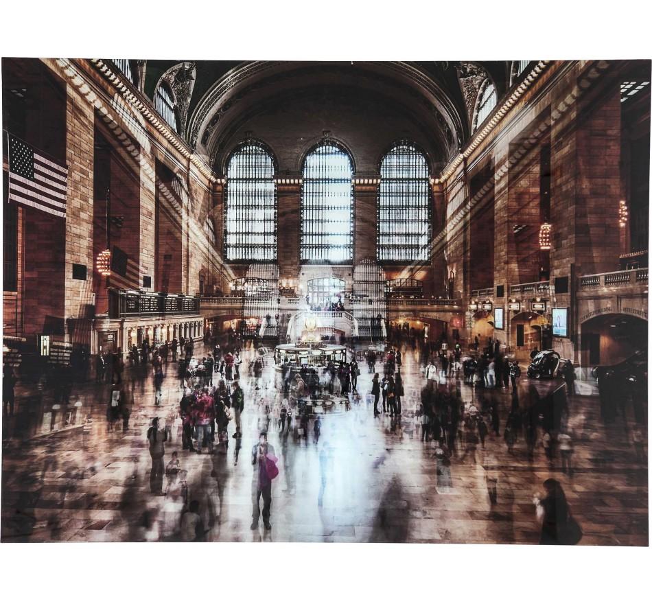 Picture Glass Grand Central Station 120x160cm Kare Design