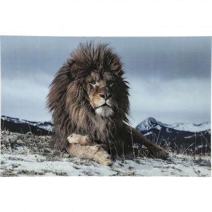 Tableau en verre Proud Lion 120x180cm Kare Design