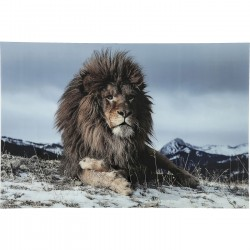 Picture Glass Proud Lion 120x180cm Kare Design