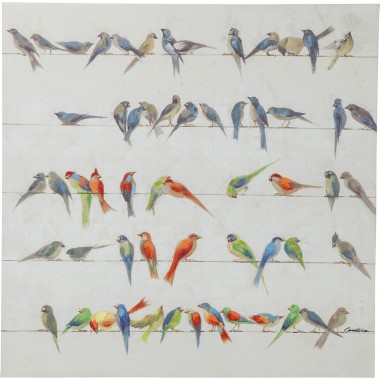 Picture Touched Birds Meeting 100x100cm Kare Design