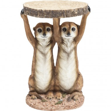Side Table Animal Meerkat Sisters Ø33cm Kare Design