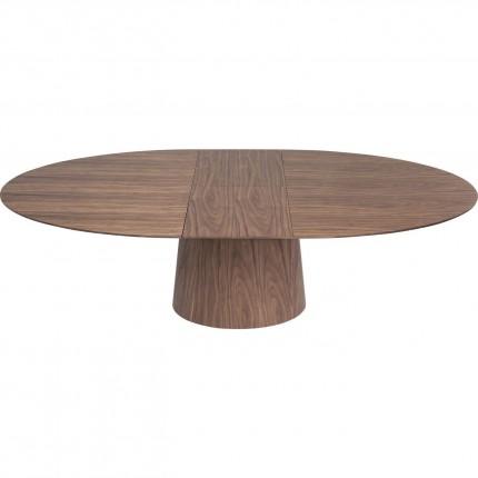 Table à rallonges Benvenuto noyer Kare Design