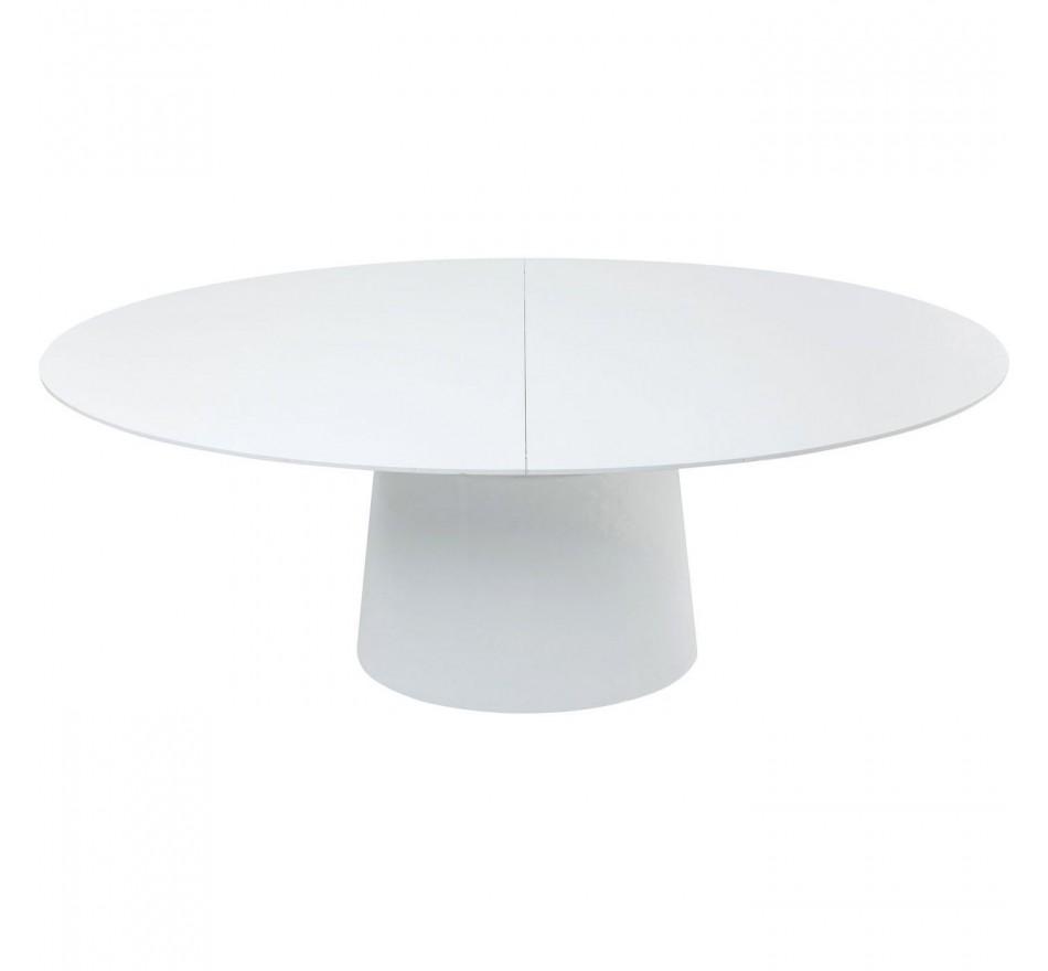 Table à rallonges Benvenuto blanche Kare Design
