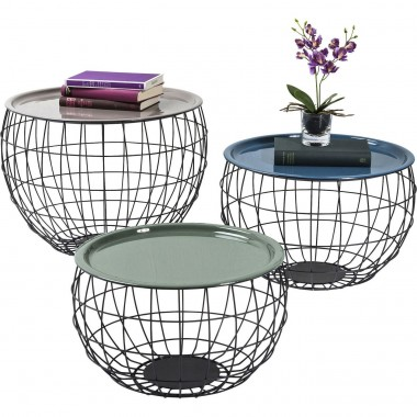 Tables basses La Costa Wire (set de3) Kare Design