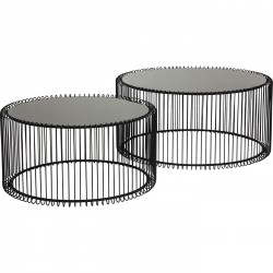 Coffee Table Wire Black (2/Set) Kare Design
