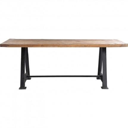 Table Bois Massif Railway 210x100 Kare Design