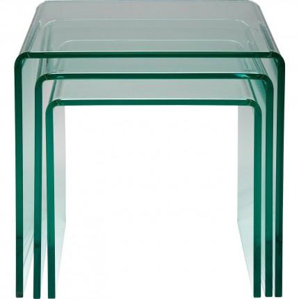 Tables d'appoint Clear Club Gigognes 3/set Kare Design