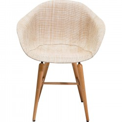 Chair with Armrest Forum Wood Natural Kare Design