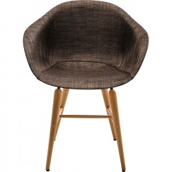Chair with Armrest Forum Wood Brown Kare Design