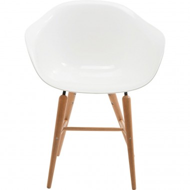 Chair with Armrest Forum Wood White Kare Design