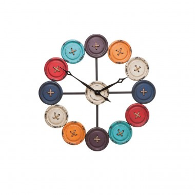 Wall Clock Buttons Kare Design