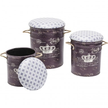 Tabourets Storage Royal 3/set Kare Design
