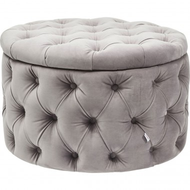 Seating Chest Desire Round Velvet Silver Kare Design