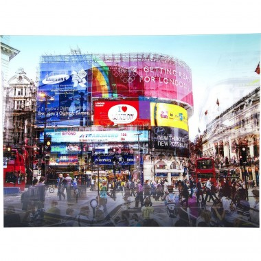 Picture Glass Piccadilly Circus 120x160cm Kare Design
