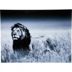 Picture Glass Lion King Standing 120x160cm Kare Design