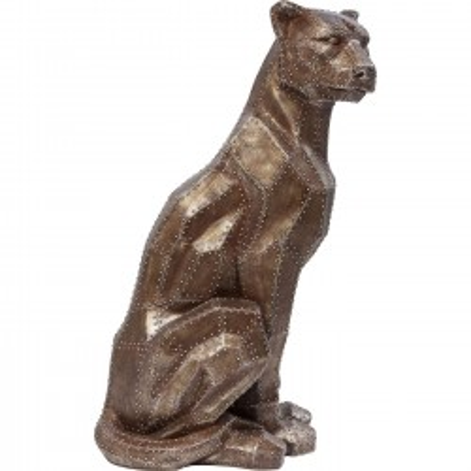 Deco Figurine Sitting Cat Rivet Copper Kare Design