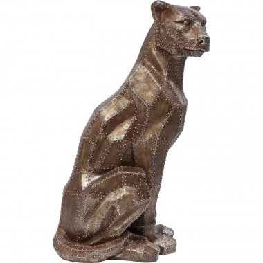 Deco Figurine Sitting Cat Rivet Copper Kare Design