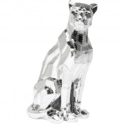 Deco Figurine Sitting Cat Rivet Chrome Kare Design