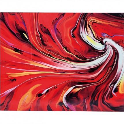 Picture Glass Chaos Fire 150x120cm Kare Design