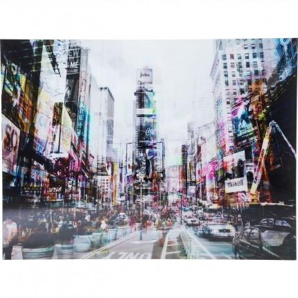 Tableau en Verre Times Square Move 120x160